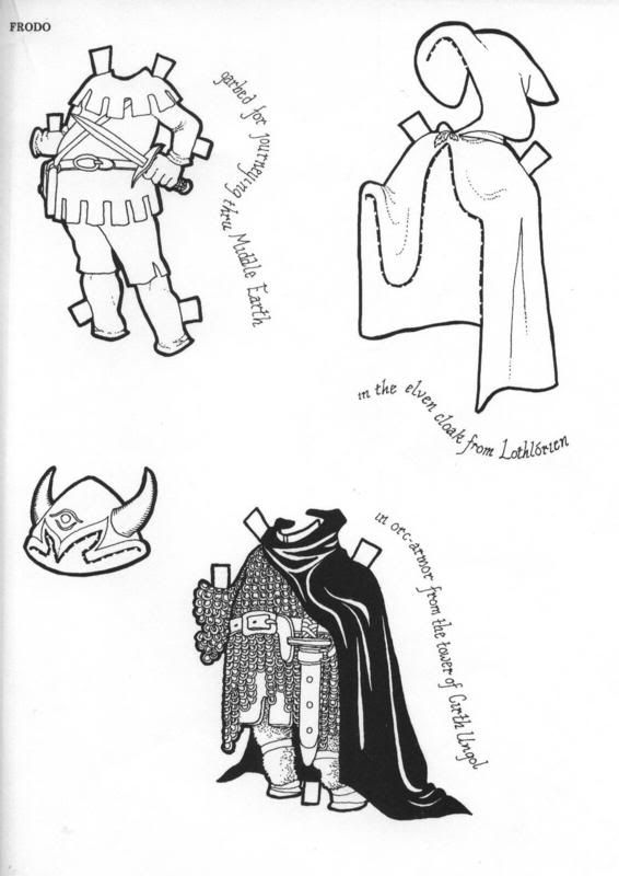 2 1 FRODO Paper Doll Clothes | PAPER DOLLS | Pinterest