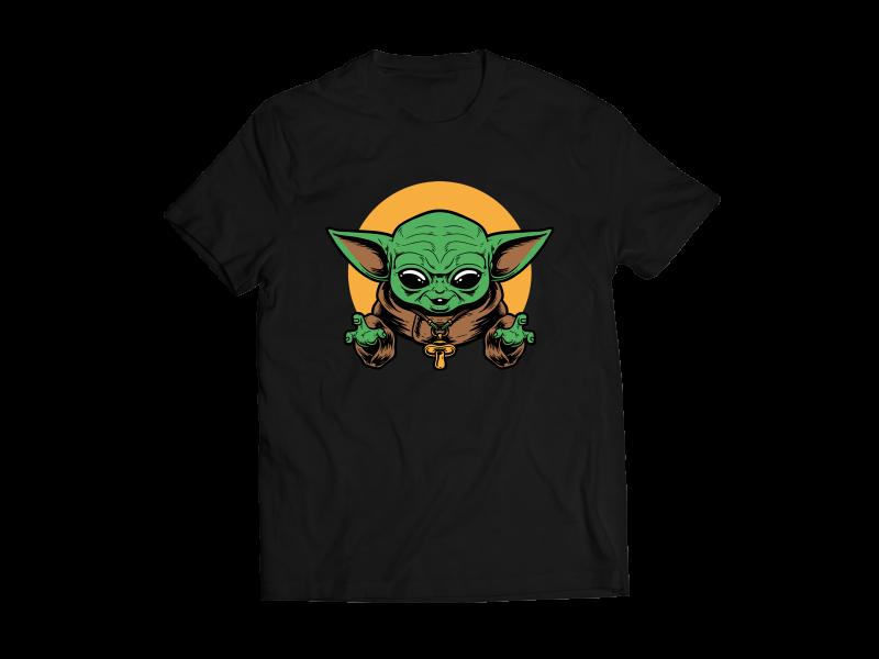 Baby Yoda Mean Face Tshirt Design