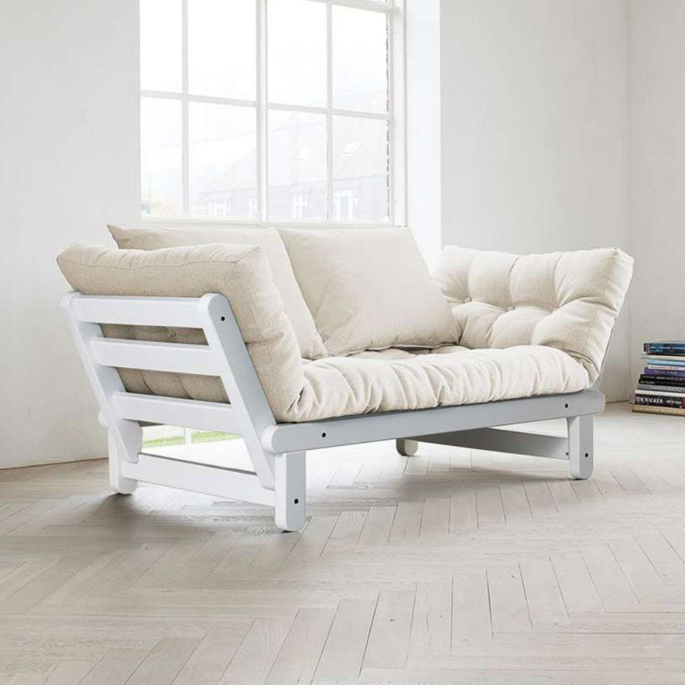 fresh futon beat white convertible futon sofa the casual elegance
