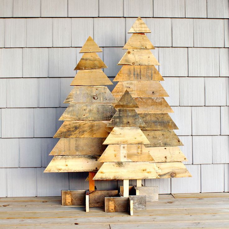 reclaimed wood christmas tree ideas 25 ways to create christmas trees using reclaimed pallet and salvaged wood and trim design rulz pinterest - Wooden Christmas Tree