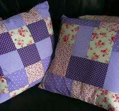 Resultado de imagen para cojines de patchwork con fundas