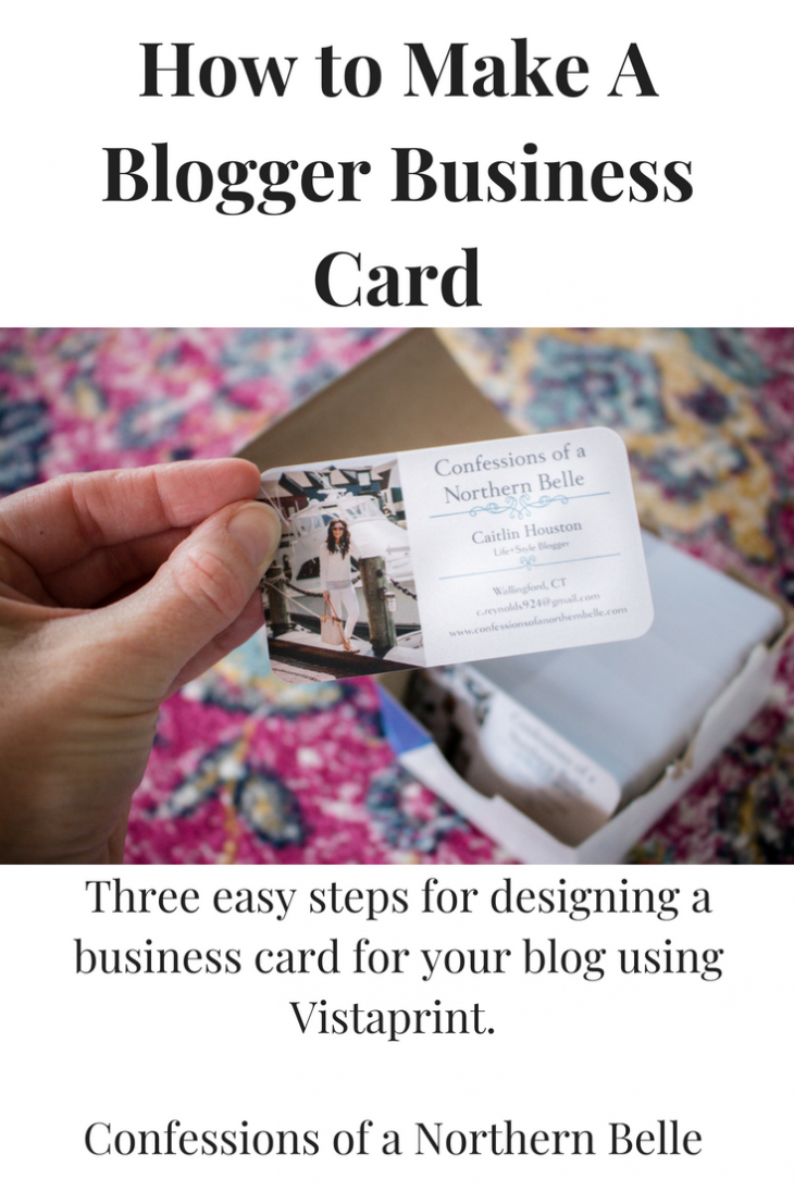 How To Make A Blogger Business Card With Vistaprint Business Cards Make Business Cards Blogger Tips