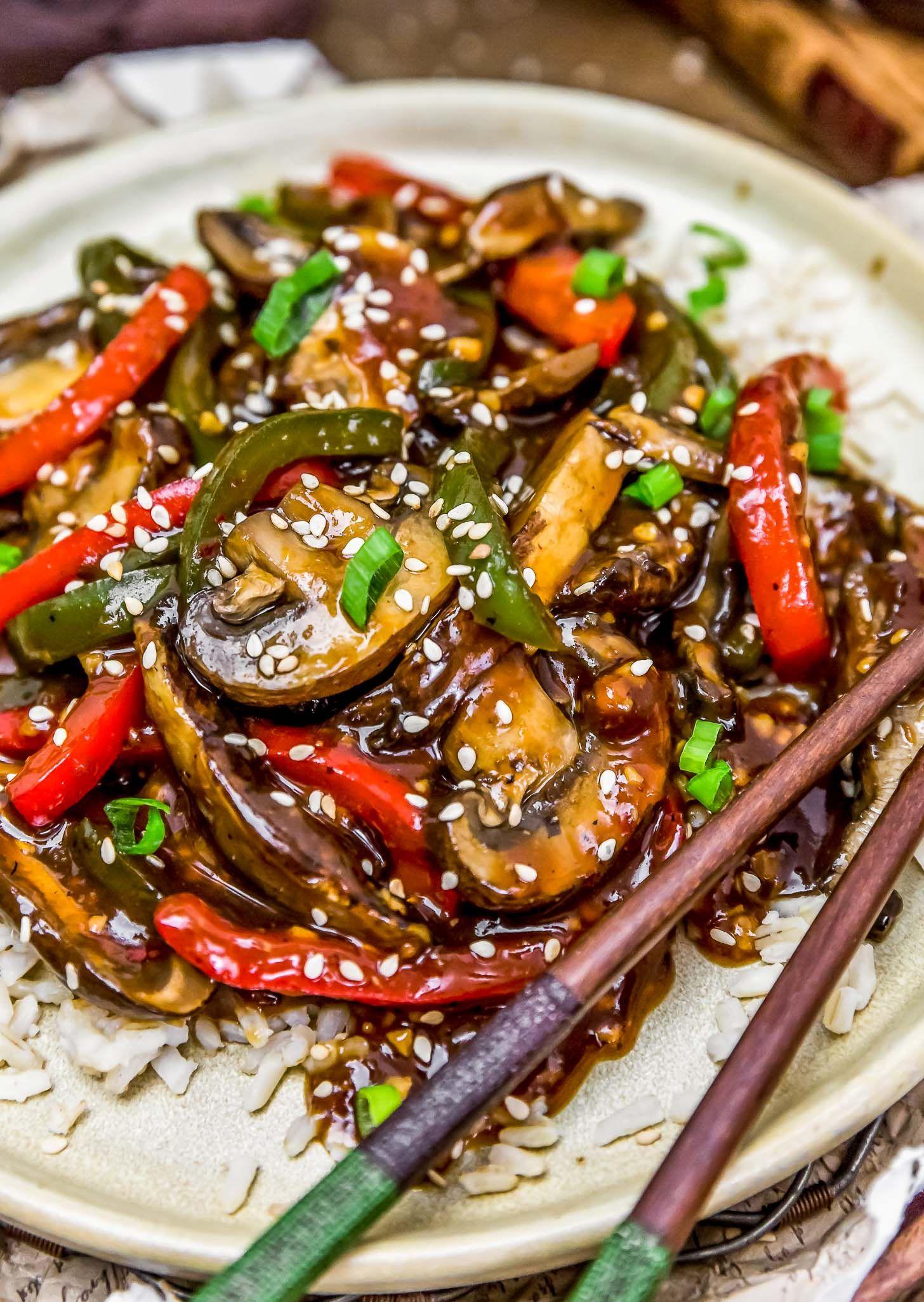 """Vegan Chinese Pepper """"Steak"""" Recipe Stuffed peppers"""