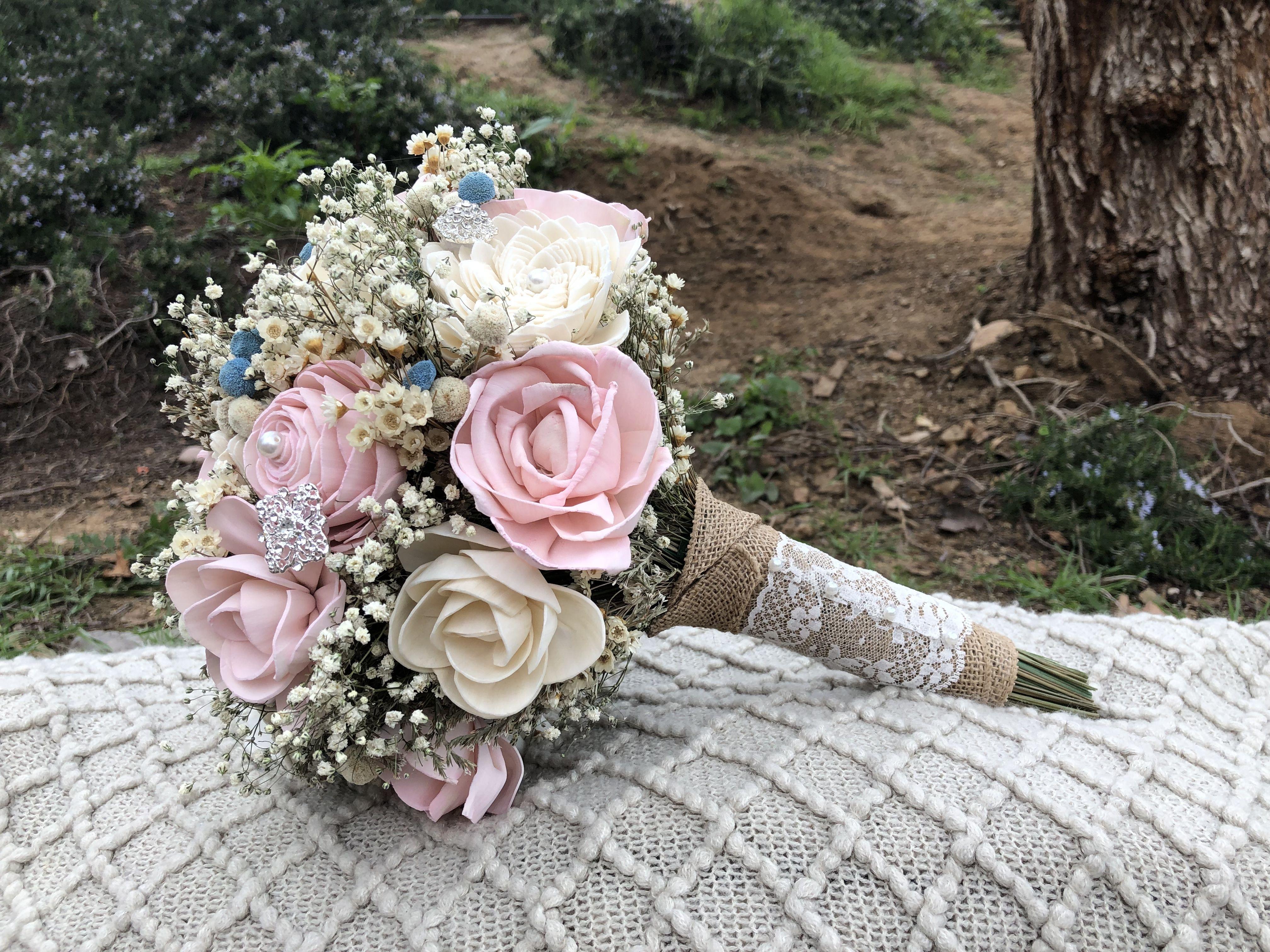 wood flower kits Wood flower bouquet, Sola wood