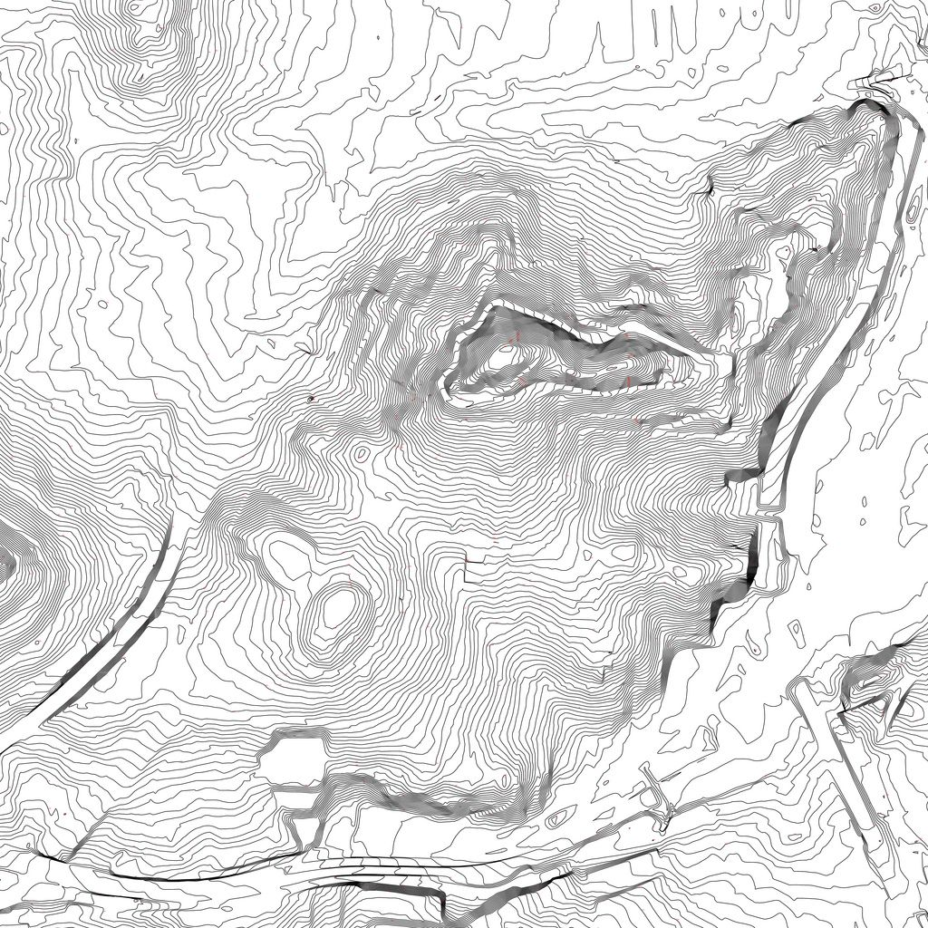Bernal Hill Contour Map