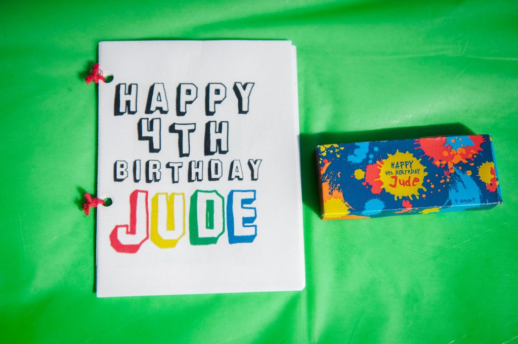 ART PARTY Custom crayon box & crayons by Cio Prints on Etsy - Jude's Pop Art Birthday Party! #lookieboo