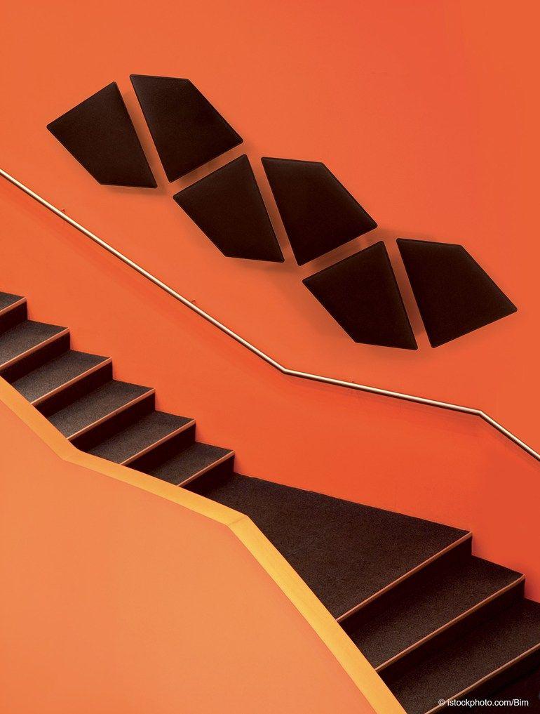 Decorative acoustical panels FLAP by @caimibrevetti  | #design Alberto Meda, Francesco Meda #orange