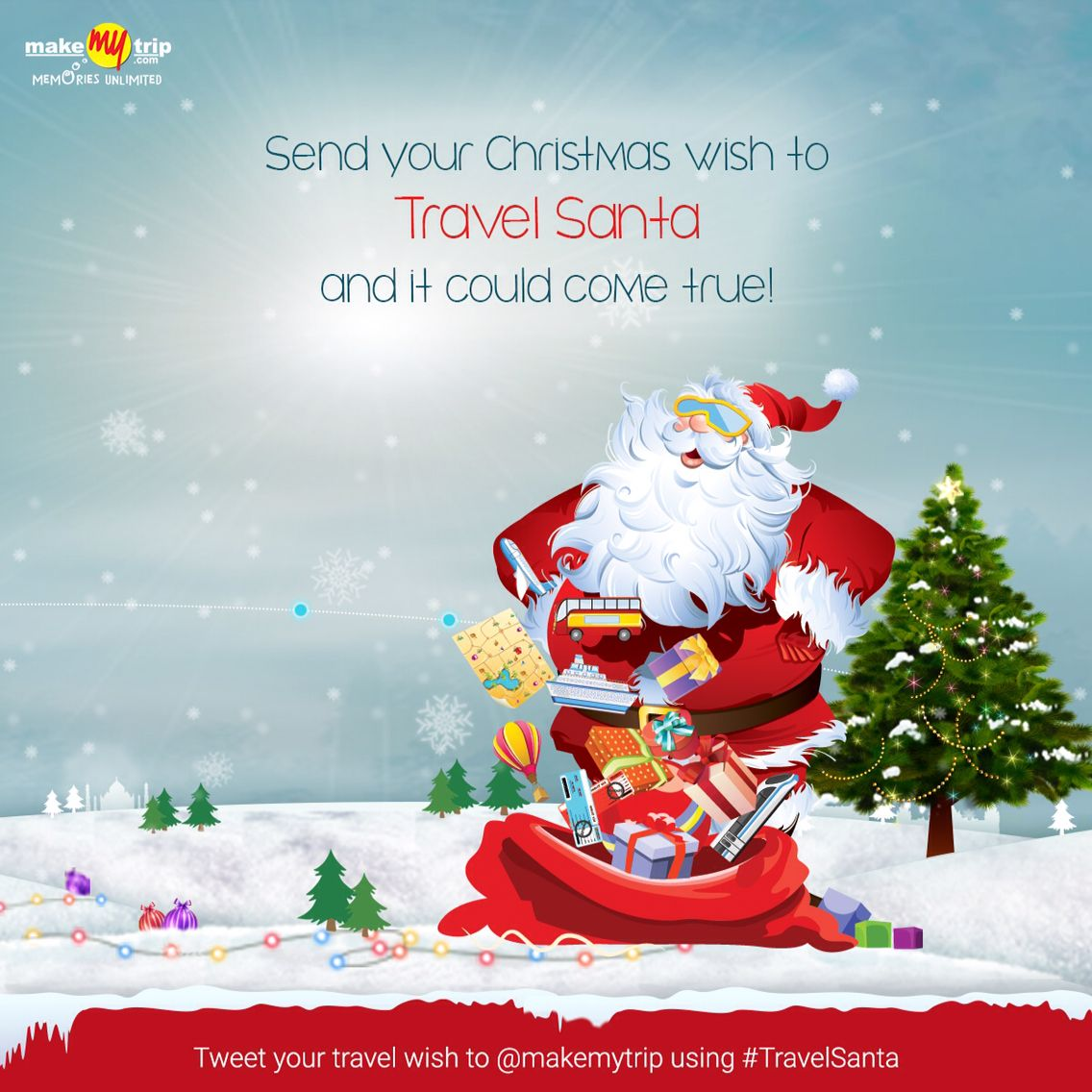 Send your Christmas wish to the Travel Santa at http://mytravelwish.in/ and it might just come true!