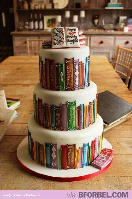 Boekentaart   Buch kuchen, Geburtstagstorte, Coole torten