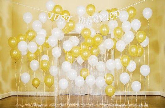 50 Awesome Balloon Wedding Ideas Wedding Balloon Decorations Wedding Ceremony Backdrop Wedding Balloons