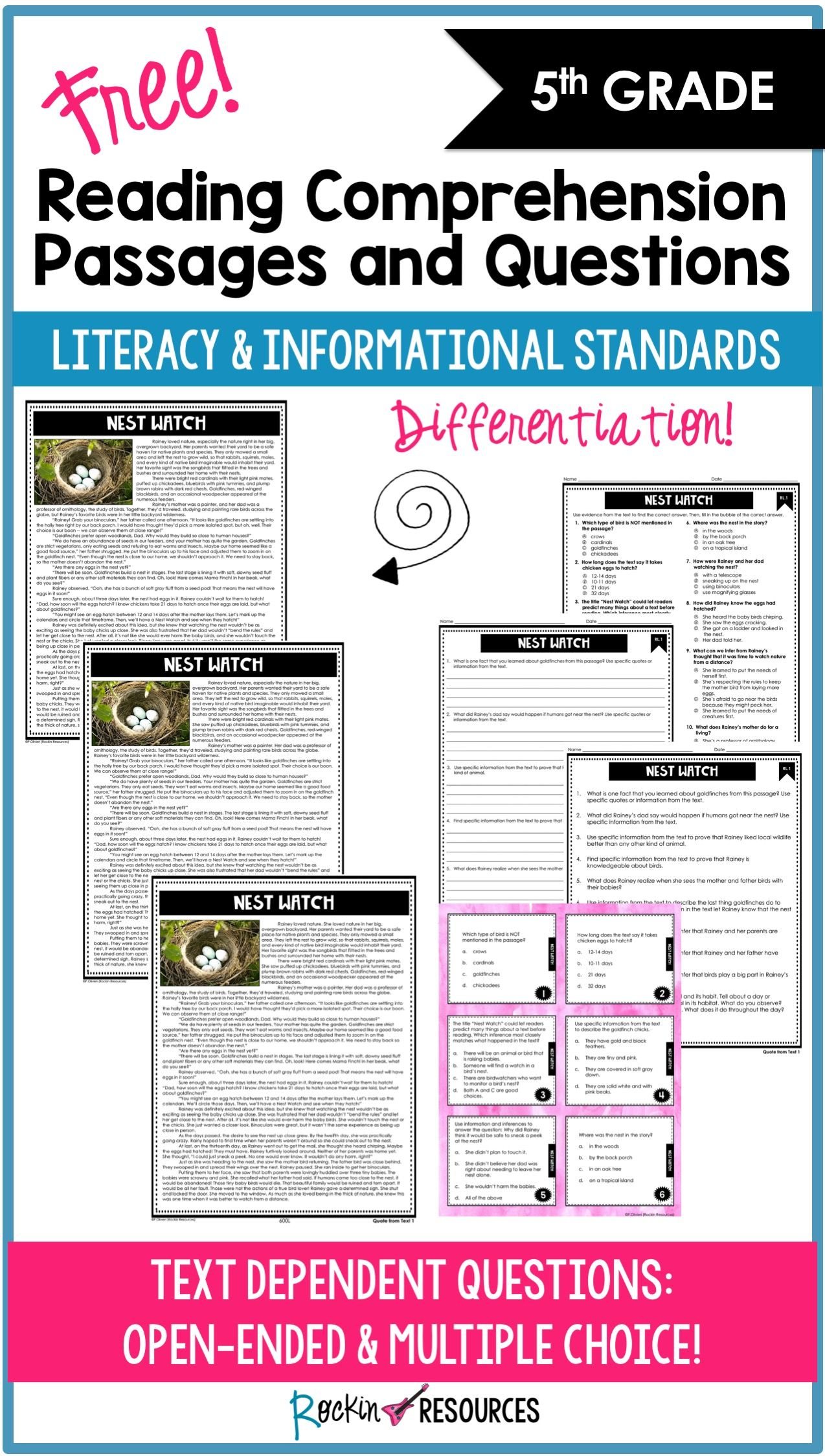 Free 5th Grade Reading Comprehension Passages And Questions Reading Comprehension Passages Text Dependent Questions Comprehension Passage [ 2248 x 1274 Pixel ]