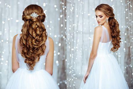 Fryzury ślubne Długie Włosy Rozpuszczone Z Welonem Uroda