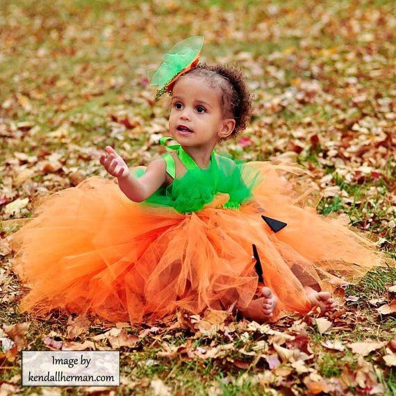 Pumpkin Princess Tutu Halter Dress Halloween by WaterBabyBoutique