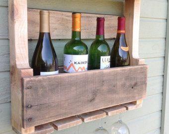 Casier A Vin Recyclee Par Americanrusticsbyray Sur Etsy Bastidores De Vino De Madera Cavas De Madera Botellero Madera
