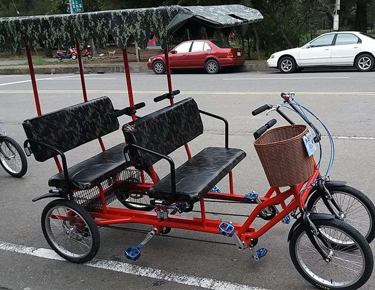 Surrey Bike 4 Person Quadricycle Bike Man Bike Tandem Bike