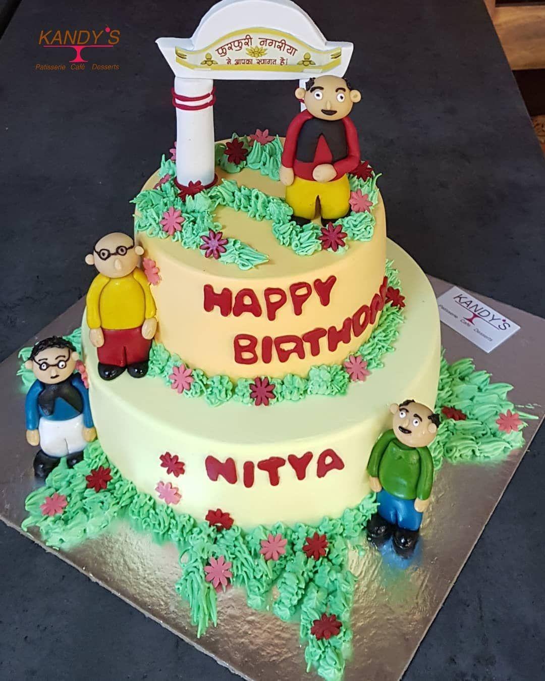 Motu Patlu Cake Kandyskafe Delhi Bakery Cafe Patisserie