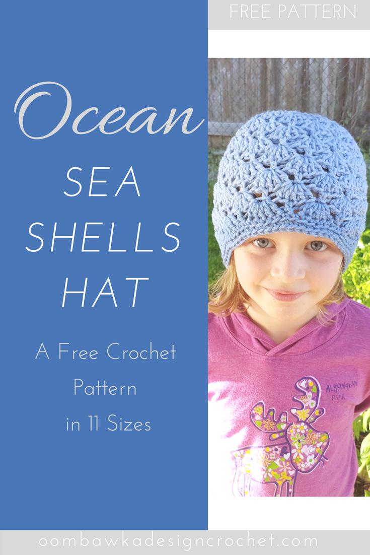 Ocean Sea Shells Hat - A Free Pattern in 11 Sizes   Tejido y Costura