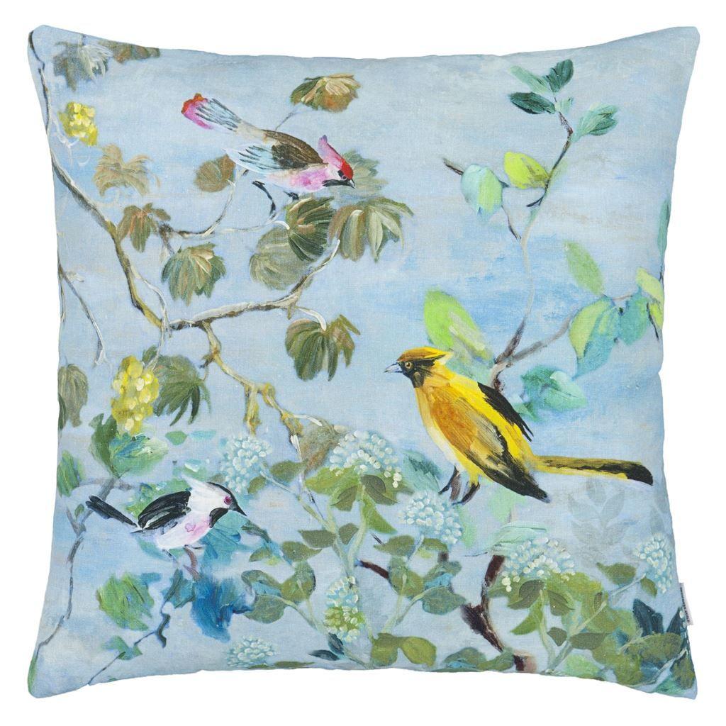 Giardino segreto delft cushion the perfect summer scene printed