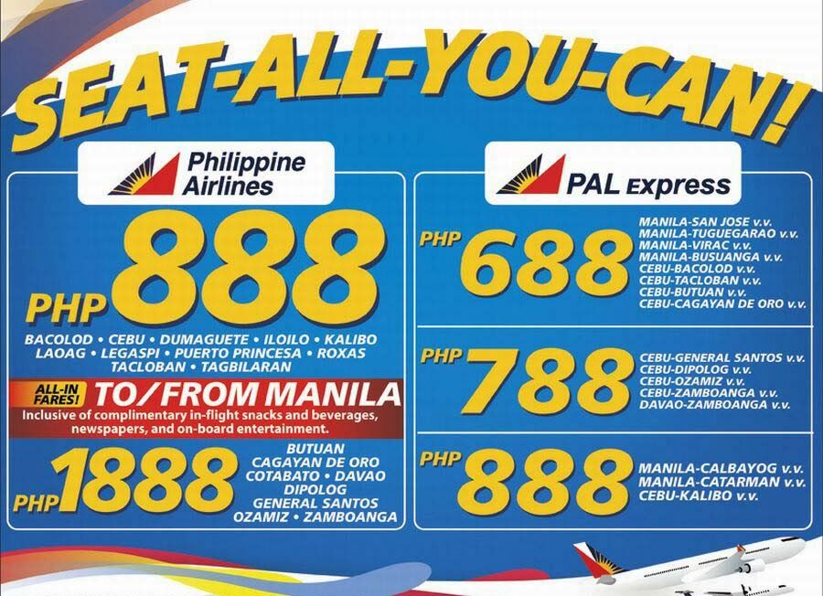 Amazingly Low Promo Fares From Philippines Airlines, Cebu
