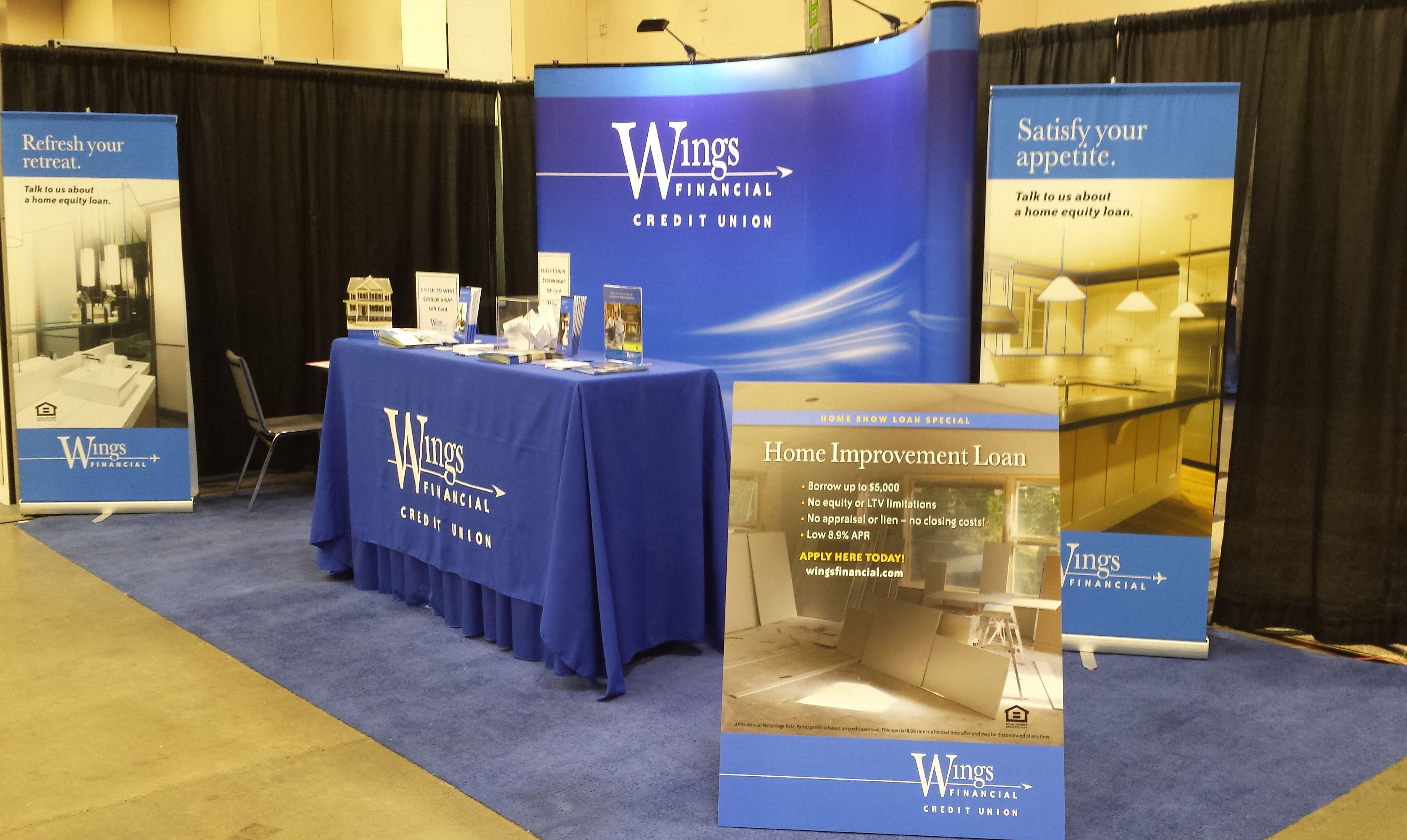 Wings Financial Booth At The 2014 Minneapolis Home + Garden Show. Our  Friendly Staff Will