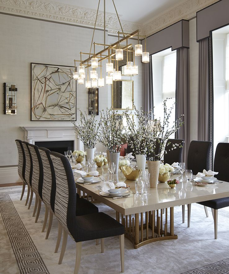 Modern Luxury Dining Room interior design | design elements, room and contemporary interior
