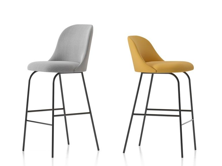 Chair With Footrest Aleta Chair By Viccarbe In 2020 Stool Foot Rest Bar Stools