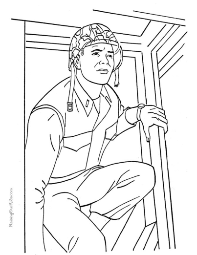 Printable Military Coloring Page Marine | Coloring pages ...