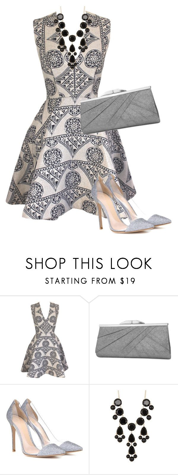 """""""Late Night"""" by toots2271 ❤ liked on Polyvore featuring Joana Almagro, Jessica McClintock, Gianvito Rossi and Natasha Accessories"""