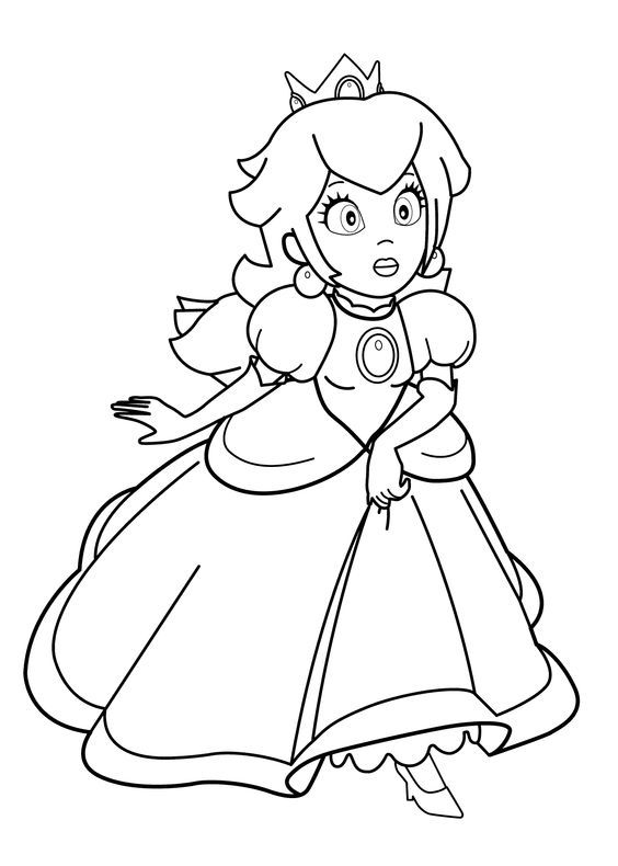 Pin by marjolaine grange on coloriage mario coloring pages for girls princess coloring pages - Coloriage mario bross ...