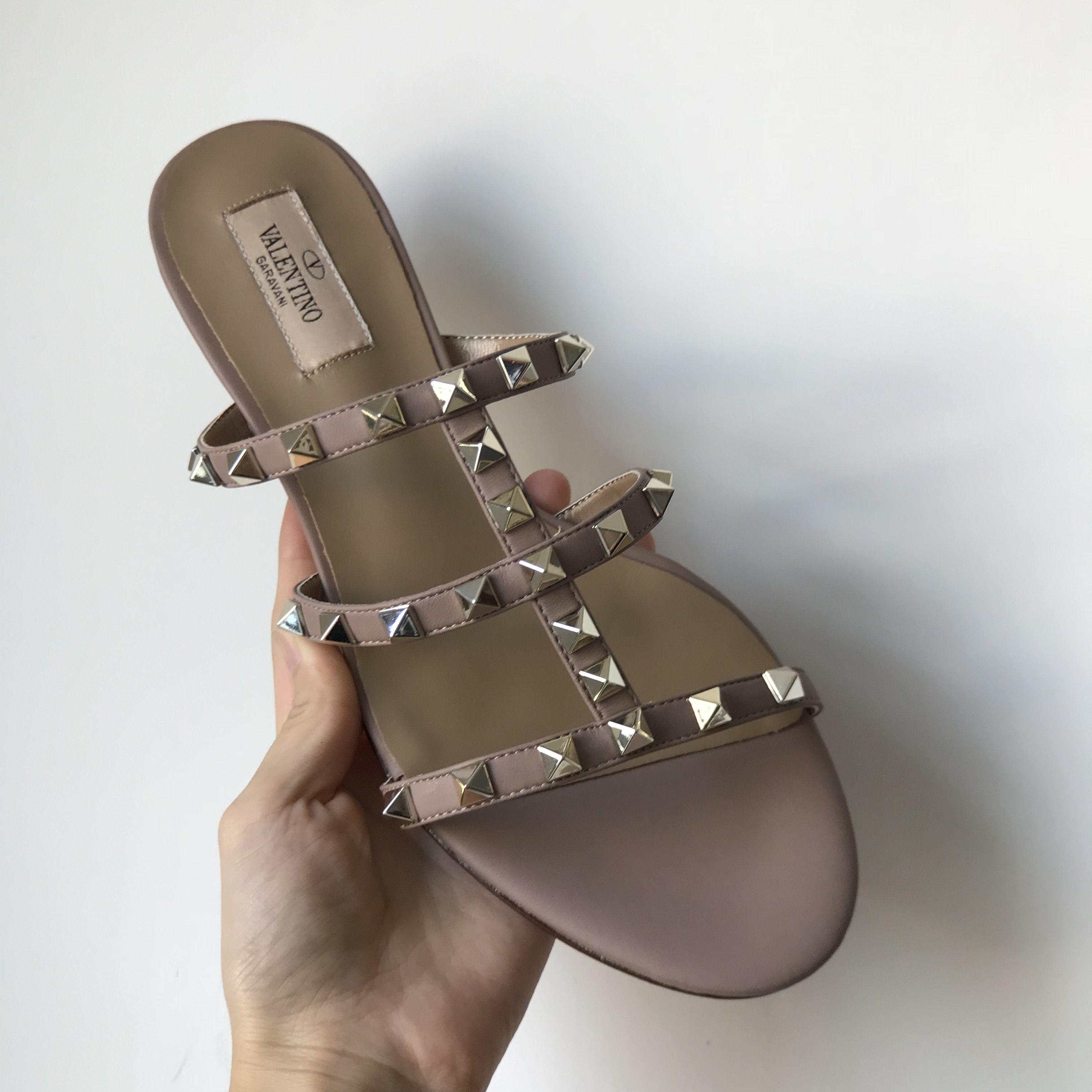 Valentino woman slippers rockstuds