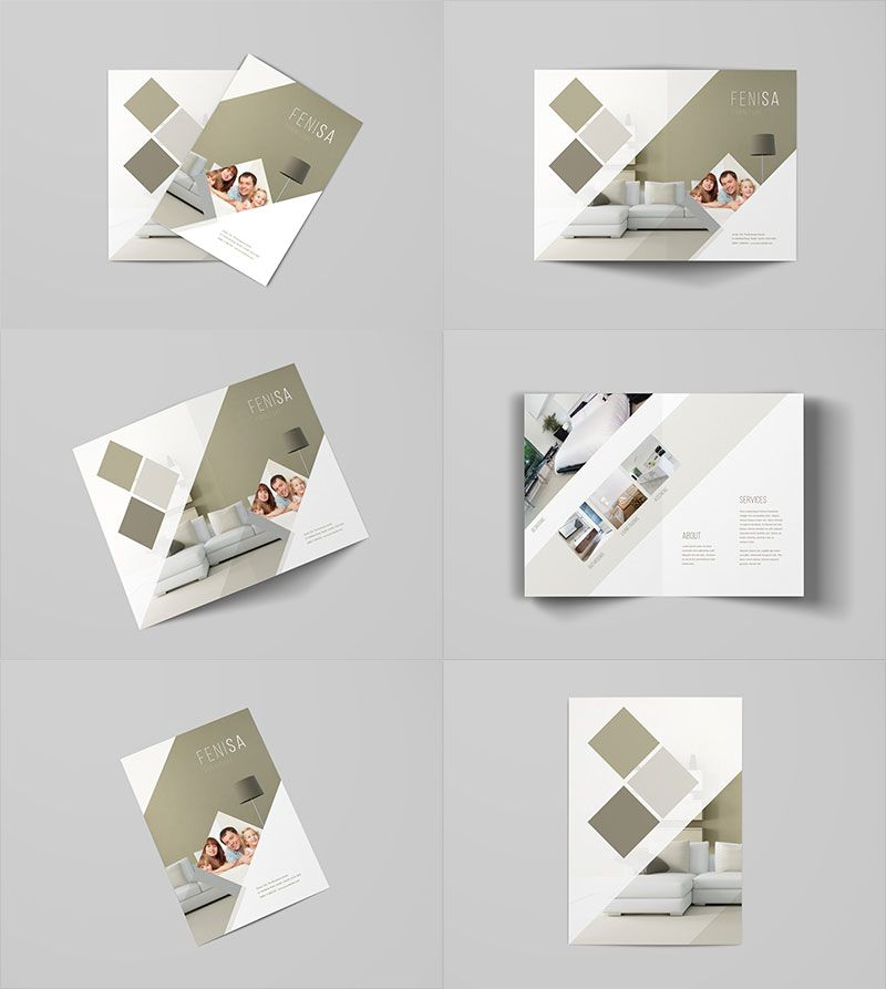 A4 Bi Fold Brochure Mockup Template Bi Fold Mock Ups Pinterest