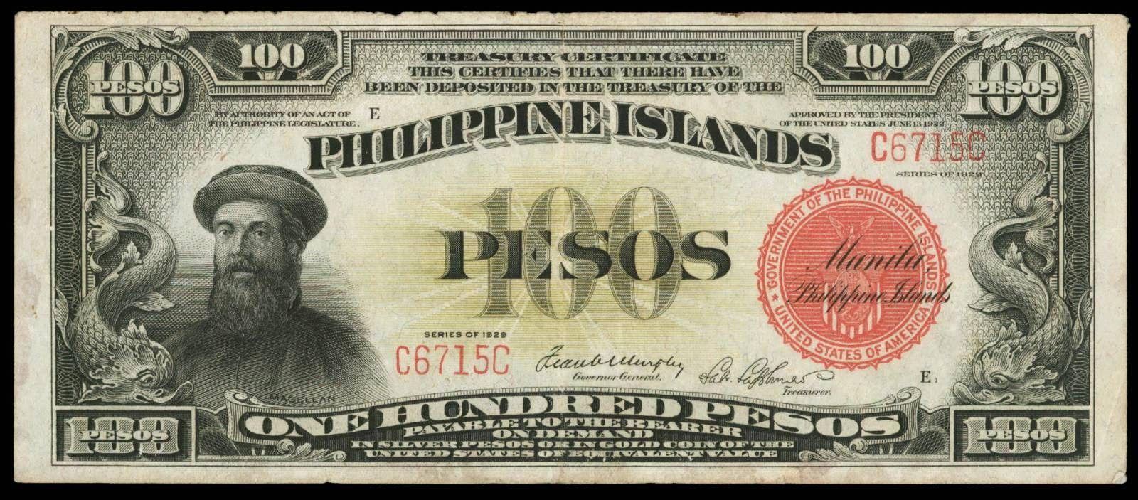 Philippine Islands One Hundred Pesos