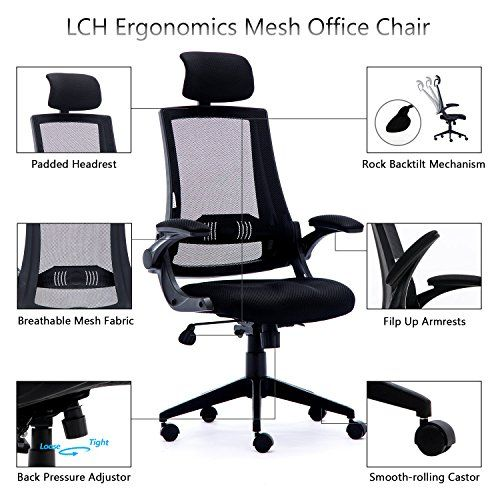 Office Chair Lch Ergonomic High Back Mesh Office Chair With
