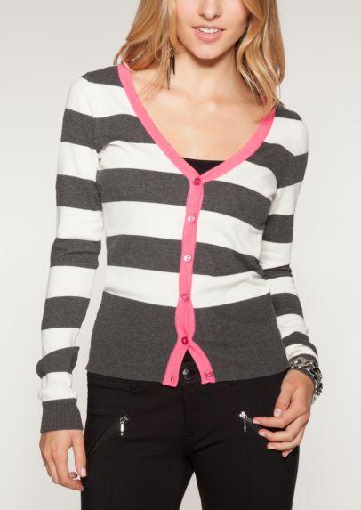 06592d171c2 Striped Neon Pop Cardigan
