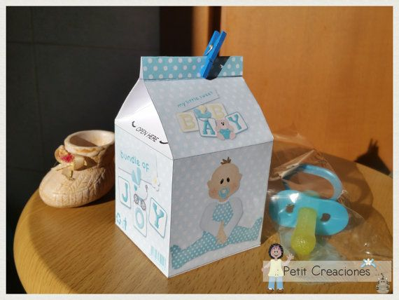 PRINTABLE MILK Carton Baby Boy DIY digital di PetitCreaciones