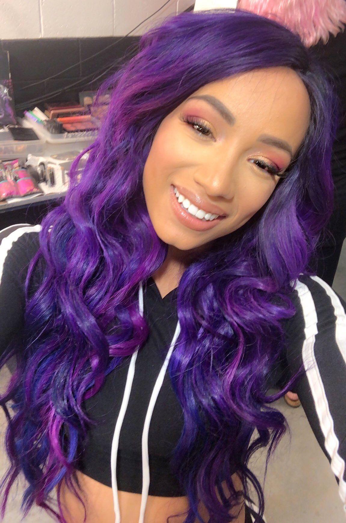 Sasha Banks Long Hair Styles Arctic Fox Hair Color Sasha Bank