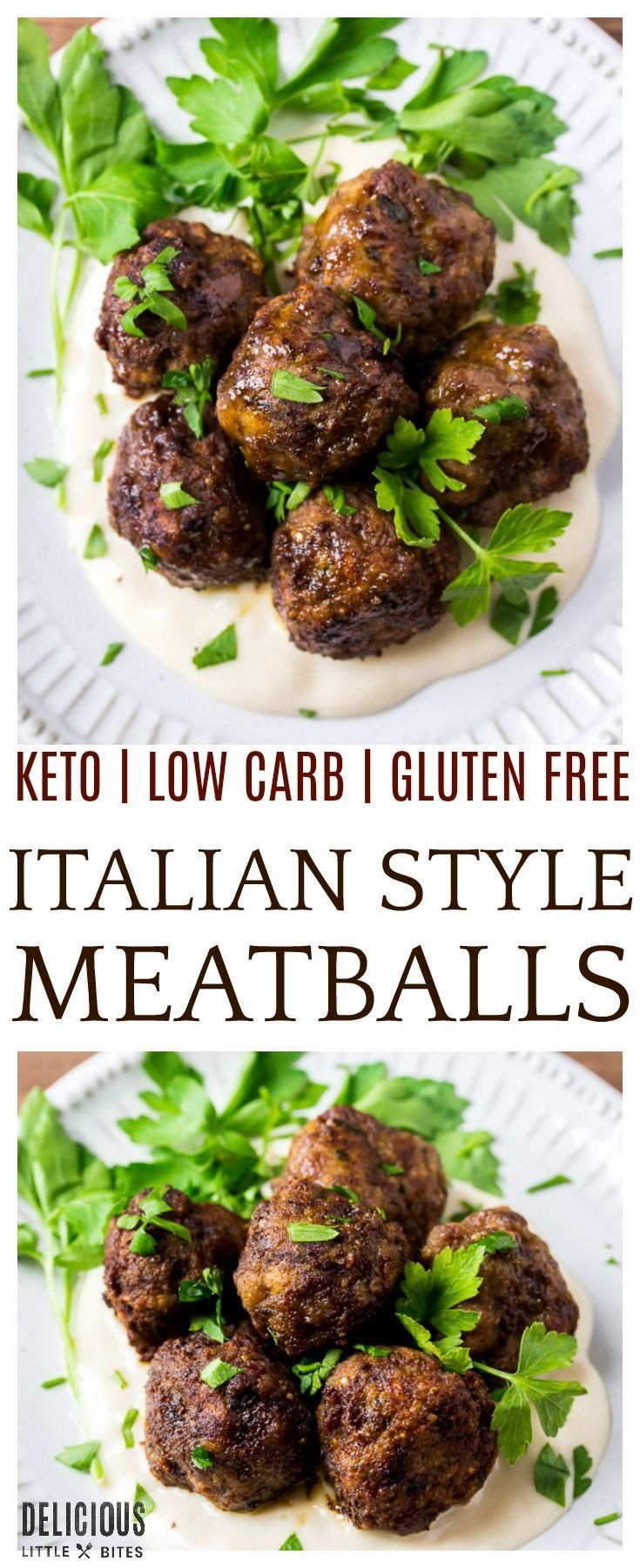 Keto Italian Meatballs Made With Ground Beef And The