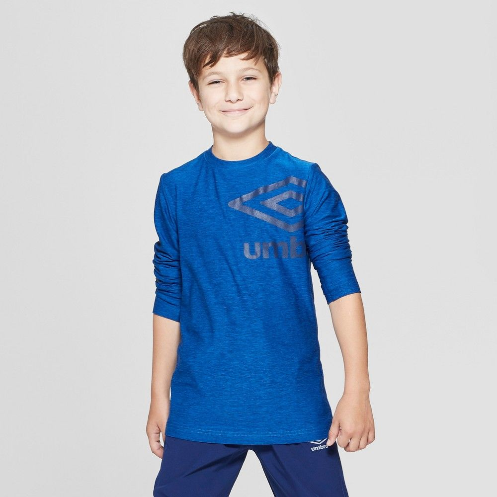 f167458cf03 Umbro Boys  Long Sleeve Graphic T-Shirt - Electric Blue XL ...