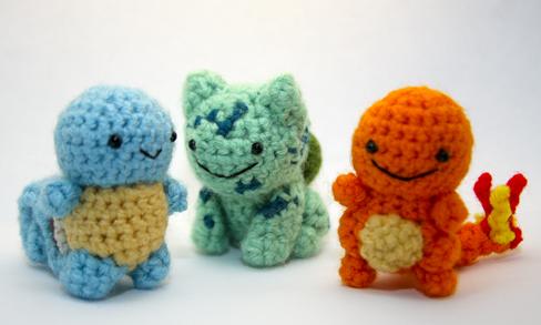 bonecos pokemon de crochê - Pesquisa Google