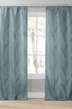 DUCK RIVER Leah Pole Top Panel Curtains - Set of 2 - Peacock