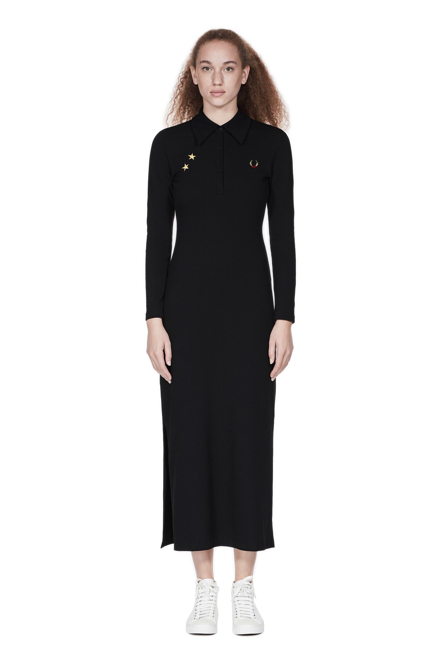c599ad48e9688 Fred Perry - Bella Freud Long Piqué Dress Black | style | Fred perry ...