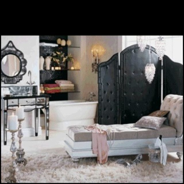 old hollywood style furniture. NICE BLACK SCREEN - Decorating Theme Bedrooms Maries Manor: Hollywood At Home Glam Style Vintage Old Furniture L