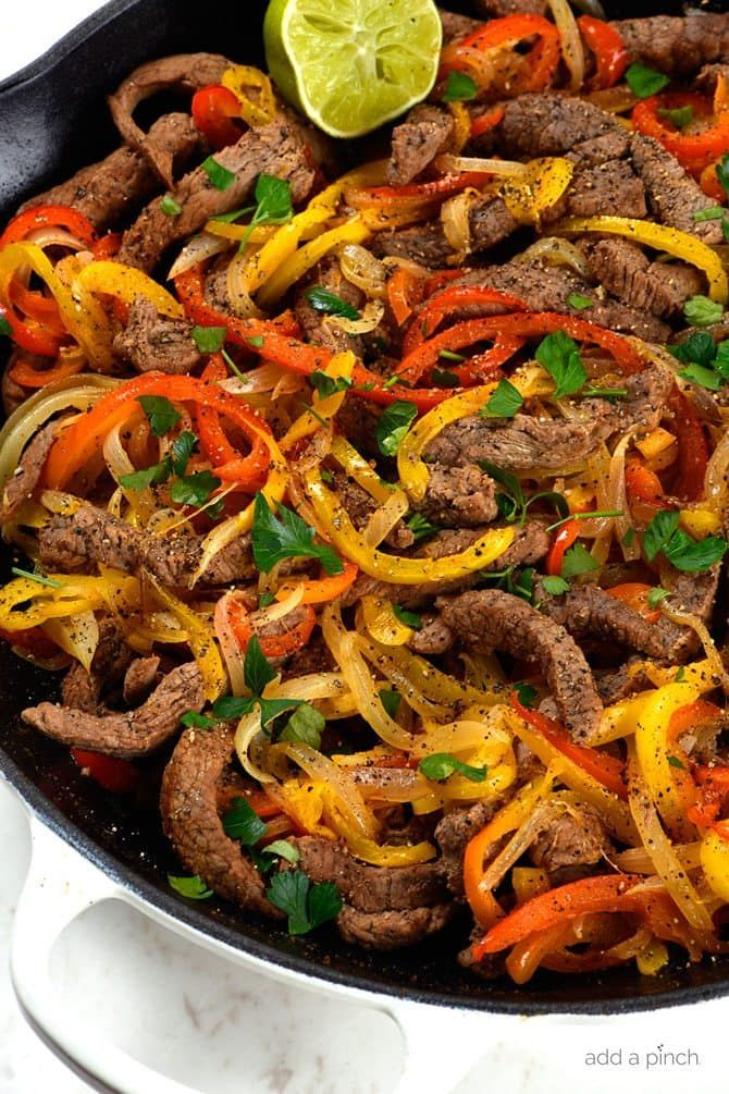Steak Fajitas Recipe - Add a Pinch