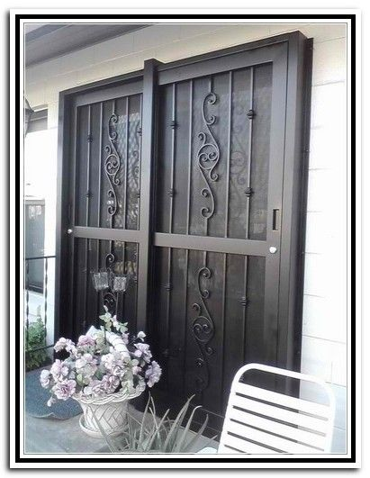 Wrought Iron Sliding Patio Doors Unique House Design Patio