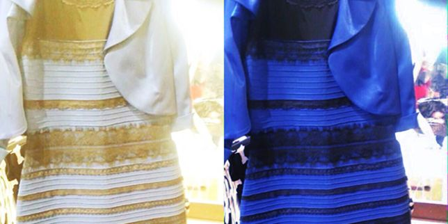 Robe or et blanche bleu et noir