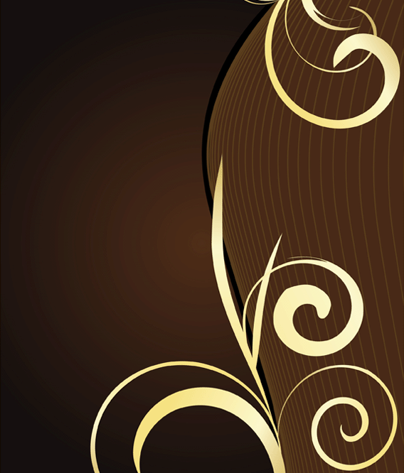 Swirl Background Free Vector Vintage Floral Backgrounds Vector Free Brown Image