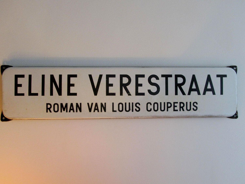 Dutch Enamel Vintage Street Name sign  $99 00, via Etsy