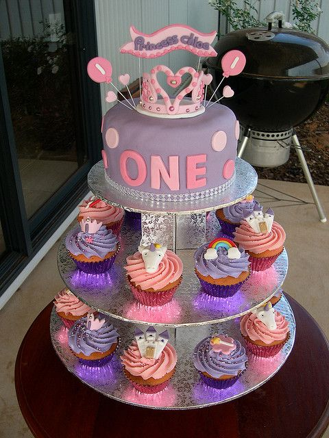 Tremendous Princess Chloes First Birthday Cake Cupcakes First Birthday Cakes Personalised Birthday Cards Paralily Jamesorg