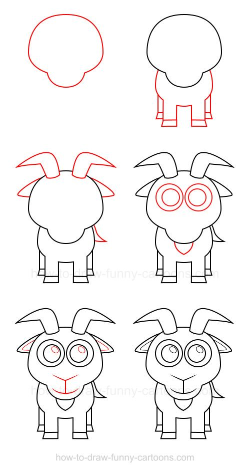 How To Draw A Goat How To Draw Drawings Easy Drawings Drawing