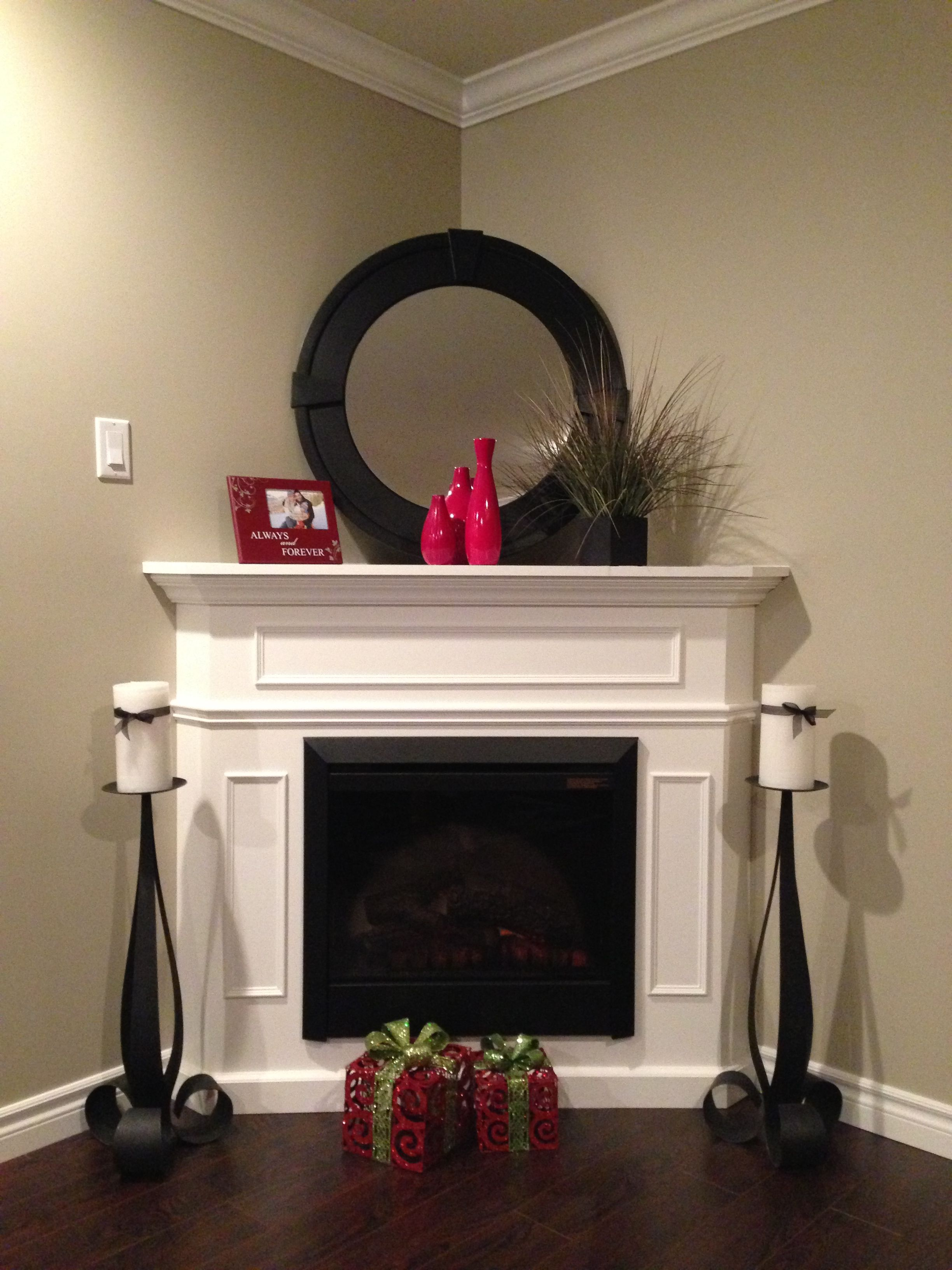 Fireplace Decor For The Home Corner Fireplace Mantels